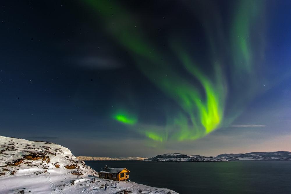auroras-boreales-península-Kola-Rusia