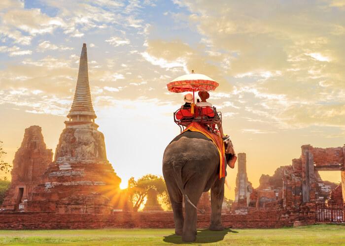 viaje de novios camboya elefante