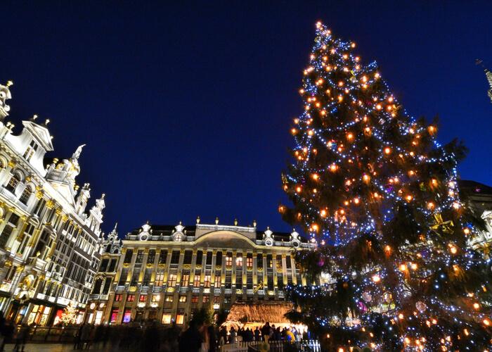mercadillo navideño de Bruselas