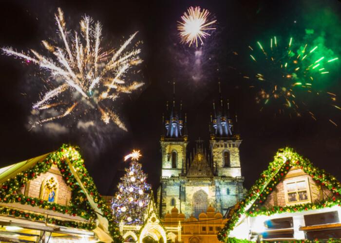 mercadillo navideño de Praga
