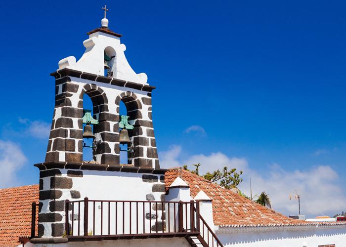 campanario de una iglesia de la palma