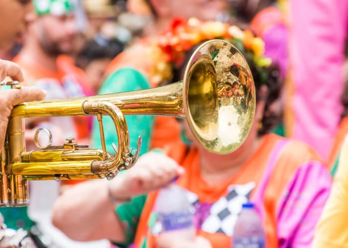 Bloco en el Carnaval de Salvador de Bahía, Brasil