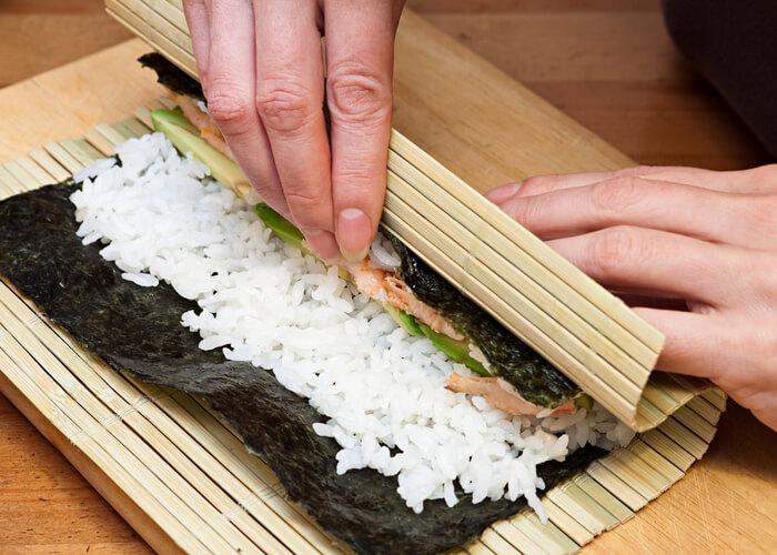 sushi-casero-esterilla